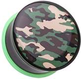 "Inspiration Dezigns Camouflage Single Flared Plugs - Sold as Pairs (1"")"