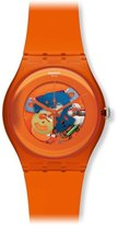 Swatch Unisex Analogue Watch with orange Dial Analogue Display - SUOO100
