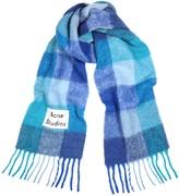 Acne Studios Vally blue alpaca-blend scarf