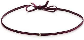 Finn Women's White Diamond Silk Velvet Ribbon Choker