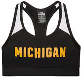 PINK University Of Michigan Ultimate Racerback Sports Bra