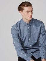 Frank + Oak Moto Print Poplin Shirt