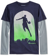 Champion Little Boys' Long-Sleeve Graphic-Print T-Shirt