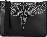 Marcelo Burlon County of Milan Asier clutch bag - men - Cotton/Leather - One Size