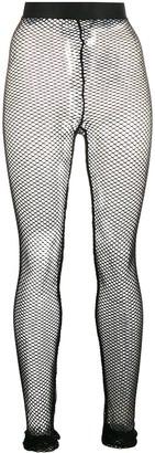 Ann Demeulemeester High-Waisted Fishnet Leggings