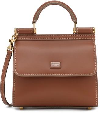 Dolce & Gabbana Sicily Micro leather tote