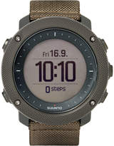Suunto Traverse Alpha Foliage Stainless Steel and Woven GPS Watch