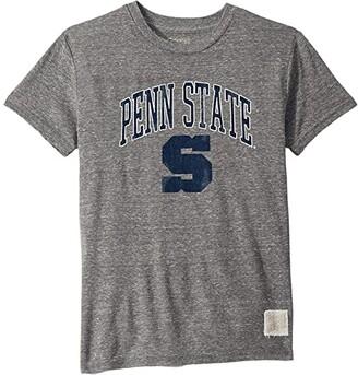 The Original Retro Brand Kids Penn State Nittany Lions Vintage Tri-Blend Tee (Big Kids) (Streaky Grey) Kid's Clothing