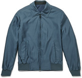 Brioni - Slim-fit Reversible Silk-shell Bomber Jacket