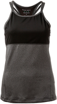 Therapy Gray Mesh-Overlay Performance Racerback Tank