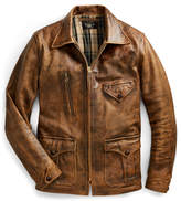 Ralph Lauren Leather Newsboy Jacket
