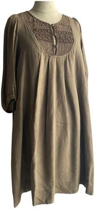 Sandro Khaki Wool Dress for Women