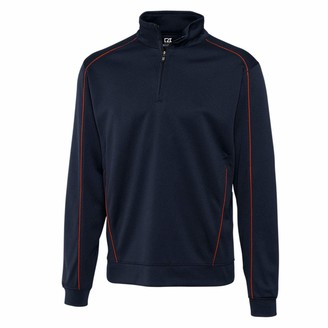 Cutter & Buck Men's Performance and Moisture Wicking Edge Half-Zip Pullover