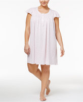 Miss Elaine Plus Size Smocked Floral-Print Nightgown