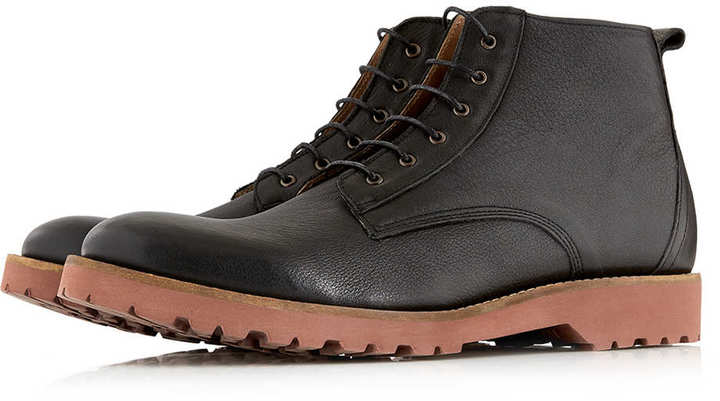 Ben Sherman Black Lace Up Boots