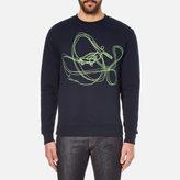 Carven Neon Print Sweatshirt Marine