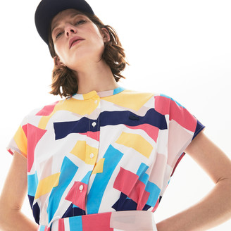 Lacoste Women's Abstract-Print Shirtdress