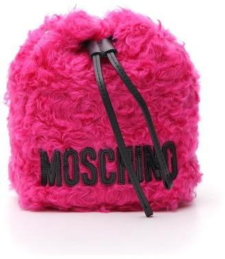 Moschino Furry Satchel Tote