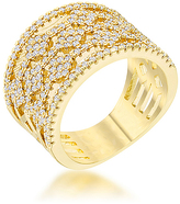 Kate Bissett Cubic Zirconia & Gold Marlene Cocktail Ring