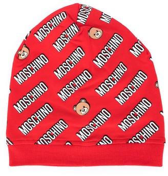 MOSCHINO BAMBINO Repeat Logo Beanie