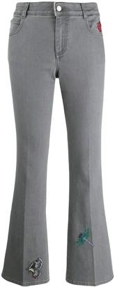 Stella McCartney embroidered flared denim jeans