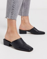 Asos DESIGN Madison high vamp heeled mules in black