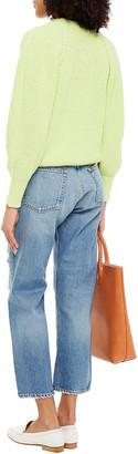 Rag & Bone Maya Cropped Distressed High-rise Straight-leg Jeans