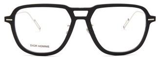 Christian Dior Diordissapear Navigator Metal Glasses - Mens - Black