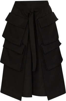 Lemaire High-Waist Cargo Pocket Midi Skirt