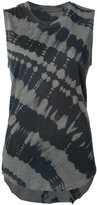 Raquel Allegra tie dye tank top - women - Cotton/Polyester - 0