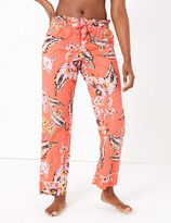 Marks and Spencer Cotton Tropical Floral Print Pyjama Bottoms