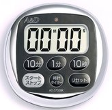 A & D drip-proof timer watch with black AD-5705BK by A & D Company