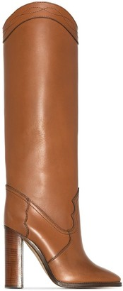 Saint Laurent Kate knee-height 105mm boots