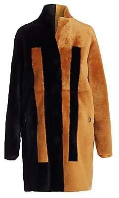 Akris Women's Essential Bicolor Reversible Shearling Coat