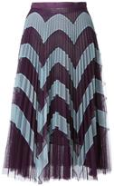 Mary Katrantzou zig-zag print pleated skirt