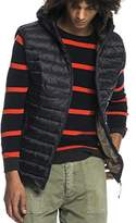 Scotch & Soda Men's Classic Quilted Hooded Bodywarmer in Nylon Quality Gilet,S