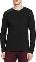 The Kooples Leather Collar Jersey Sweater