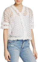 Sandro Portofino Lace Top