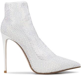 Le Silla Gilda 100mm crystal-embellished sock pumps