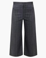 Veronica Beard Cocoa Cropped Wideleg Pant