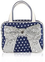 Betsey Johnson Weekender Bow Cosmetic Case - Grey