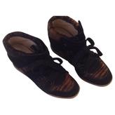 Isabel Marant Black Pony-style calfskin Trainers