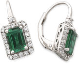 JCPenney FINE JEWELRY Lab-Created Emerald & White Sapphire Earrings