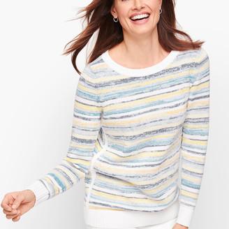 Talbots Mixed Yarn Stripe Sweater