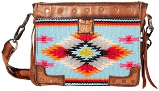 STS Ranchwear Saltillo Crossbody (Light Blue/Orange/Pink) Handbags