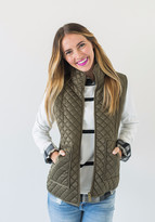 Ampersand Avenue Puffer Vest - Coffee