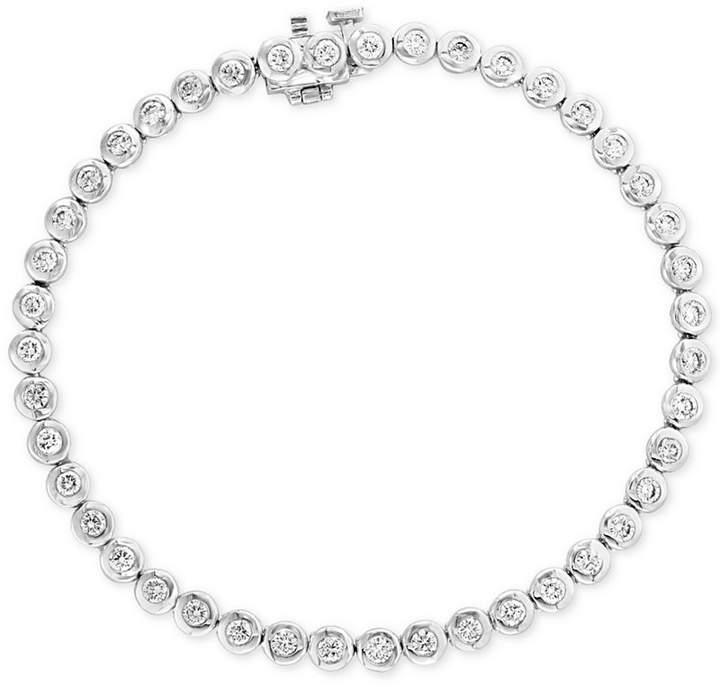 Effy Bubbles by Diamond Bezel-Set Tennis Bracelet (1-5/8 ct. t.w.) in 14k White Gold