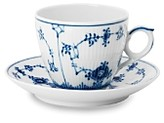Royal Copenhagen Blue Fluted Half Lace Cup & Saucer