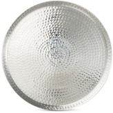 Threshold Hammered 17.5in Round Serving Tray Aluminum