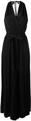 Raquel Allegra Halterneck Maxi Dress